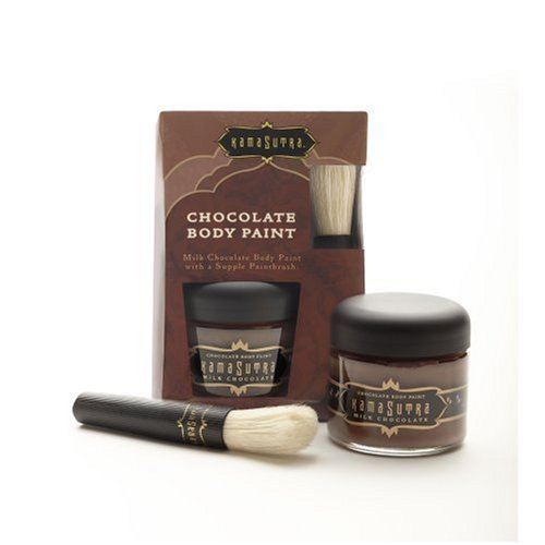 Kama Sutra Lover's Chocolate Caress Body Paint & Paintbrush by Kama Sutra