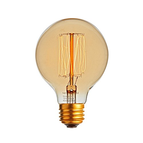 Newhouse Lighting G25 Incandescent Thomas Edison Filament Globe Light Bulb