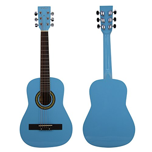 Bailando 30 Inch Starter Acoustic Beginner Guitar with Carrying Bag & Accessories, Blue - Image 1
