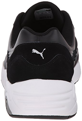 PUMA Matt R698 Shine Black and White Black Canvas Men's IEw5nrOqxI