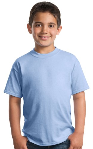 Port & Company 174 - Youth Core Blend Tee. PC55Y X-Small Light Blue ()