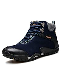 Hombres Calentar Excursionismo Zapatos Otoño Invierno Al Aire Libre Deportes Zapatos Antideslizante Viajar para Caminar Zapatos Grande Tamaño