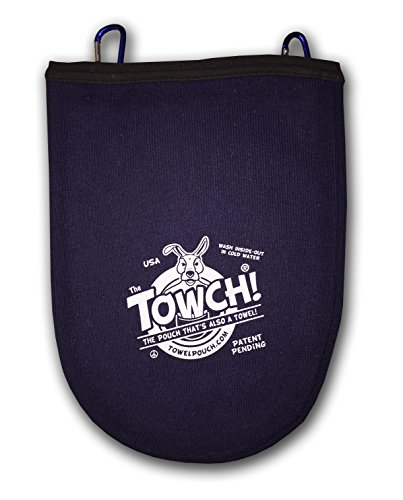 Towch Disc Golf Towel Pouch - 3 to 5 Disc Bag - Choice of 11 Colors - (Nautical Navy)