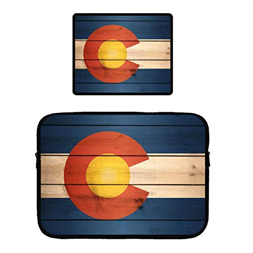 - POP MKYTH 13 Inch Notebook Sleeve - Vintage Wooden Colorado Flag - Laptop Computer Case, Tablet Carrying Cover Bags 13
