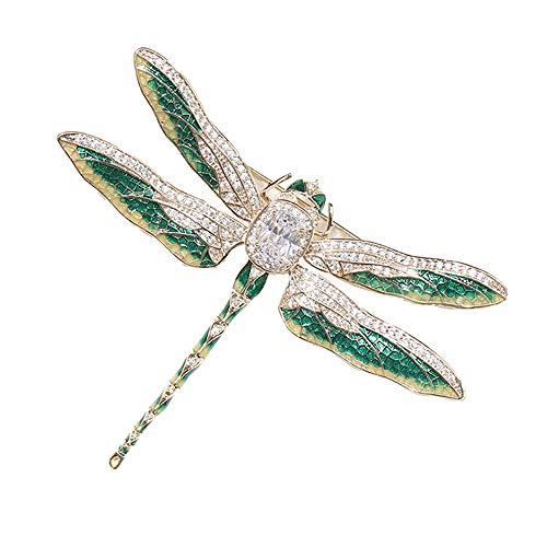 PunkStyle Enamel Beetle Insect Brooch Pin Fashion Jewelry Gifts for Women/Men (Green Dragonfly Unisex) ()