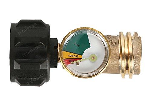 E-BAYKER Propane Tank Gauge/Leak Detector Universal for QCC1/Type1 Propane Tank Cylinders Gas Pressure Meter-100% Solid Brass Heavy-Duty