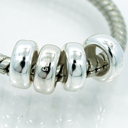 (Pro Jewelry (Set of 4) .925 Sterling Silver Spacer)