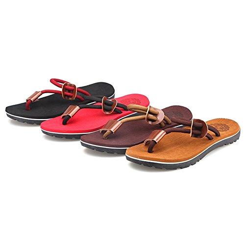 plage l'extérieur Hommes Couple et Chaussures femmes À Antidérapant Tongs de red Pantoufles EXHqREw