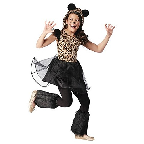 Girl's Cheetah Dress Costume (Small (4-6)) (Girls Panda Costume)