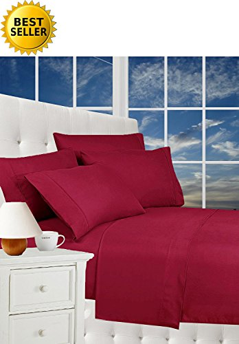 #1 Rated Best Seller Luxurious Bed Sheets Set on Amazon! Celine Linen¨ 1800 Thread Count Egyptian Quality Wrinkle