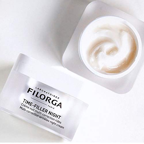 Filorga Time-Filler Night Absolute Correction Anti Aging Wrinkle Night Cream for all Types of Wrinkles, Deep Wrinkles + Surface Wrinkles, 1.69 fl oz