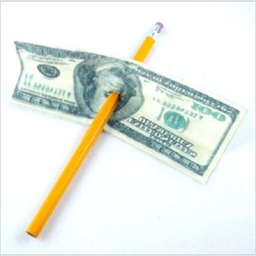 Close Up Magic Trick Misled Pencil Through Paper Dollar Bill Money Penetration Tricks