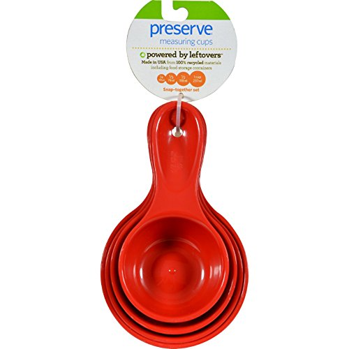 Preserve Measuring Cups Set - Red Tomato - 4 Measuring Cups