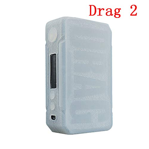 DSC-Mart Texture Case for VOOPOO Drag 2 177W, Anti-Slip Silicone Cover Sleeve Wrap Fits Drag 2 - Clear Skin Silicone Silicon Case
