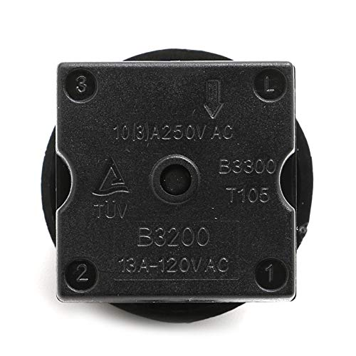 TXTGOOD 4-Position 3-Speed Fan Selector Rotary Switch Governor with Knob 120V-250V 804066788946 - Speed 3 Fan Rotary