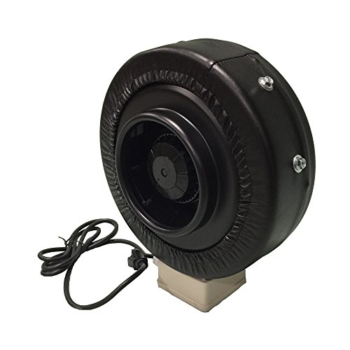 Think Crucial Durable black Inline Fan, 6-Inch, Part # IF6; Perfect for Grow Rooms Cigarette Smoke, Foul Odor Emissions, Pet Dander, Plant Emissions, Allergenic Pollutants & More -