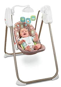 Fisher-Price Fold 'n Stow Swing, Coco Sorbet Deluxe