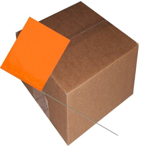 Marking Flags 4 inch x 5 inch with 30 inch Wire Staff 1000 pc/cs (Orange Glo) by Tape Planet