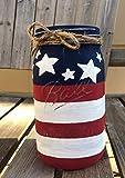 4th of July Mason Jar/Fourth of July Decor/Red, White, Blue Mason Jars / 4th of July Decor