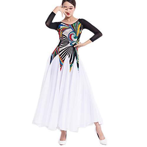 【在庫処分】 garuda レディース社交ダンス衣装 B07Q3G7X9K Medium ダンス練習競技ワンピース 上品ワルツドレス 可 B07Q3G7X9K Medium|ホワイト ホワイト ホワイト Medium, ふとんのタニケン:dd8ae57a --- a0267596.xsph.ru