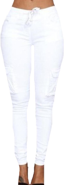 Oberora Women Fasihon Casual Skinny Slim Fit Trousers Pencil Pants