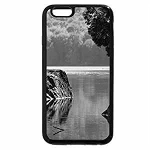 iPhone 6S Case, iPhone 6 Case (Black & White) - Rock Reflection