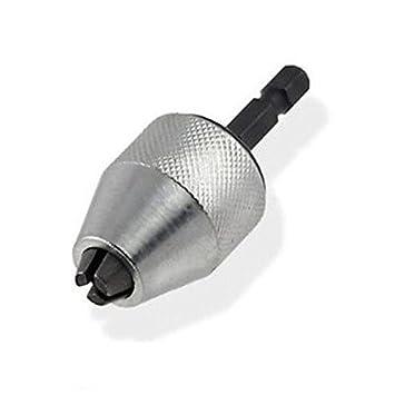 New Hex Shank Keyless Drill Bit Chuck Adapter Converter Quick Change Tool 1//4/'/'