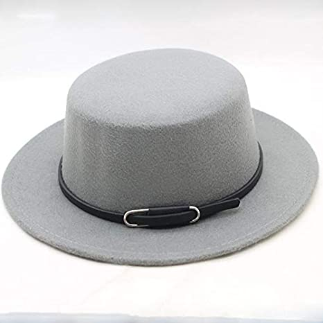 88e4fa80d02 Amazon.com  Blue Stones Fashion Men Classic Felt Pork Pie Porkpie Fedora Hat  Chapea Cap Upturn Masculino Black Ribbon Band Panama Hats  Kitchen   Dining