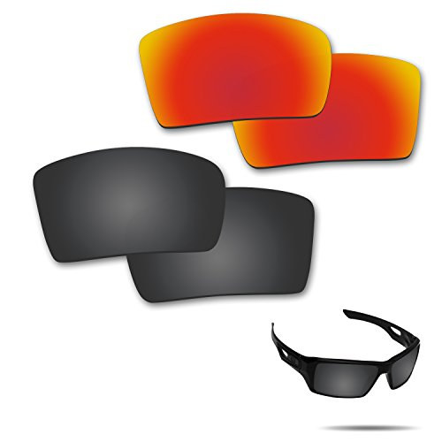 Optic Crystal Golf Ball (Fiskr Anti-saltwater Polarized Replacement Lenses for Oakley Eyepatch 2 Sunglasses 2 Pairs Packed)
