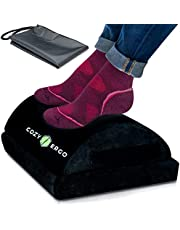 Cozy Ergo Small Ottoman Foot Rest. Adjustable Height Under Desk Footrest for Office Chair. Foam Foot Stool. Travel Footstool, Couch Leg Rest, Knee Back Pain Relief, Posture Corrector Ergonomic Pillow