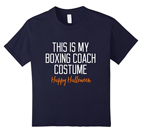 Hallowing Costumes (Kids Funny Boxing Coach Costume Halloween T-Shirt 10 Navy)