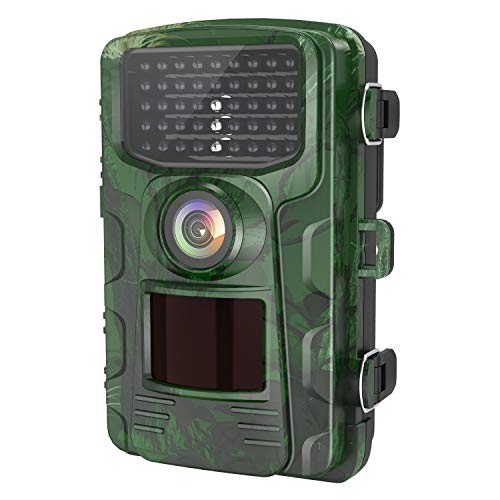LETSCOM Trail Game Camera 14MP, IP65 Waterproof Wildlife Scouting Hunting Cams, 0.4s Trigger Speed, 42 Low Glow IR LEDs, 120° Wide Angle