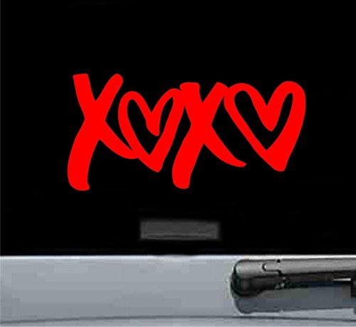 XOXO love Vinyl Decal Sticker (RED)