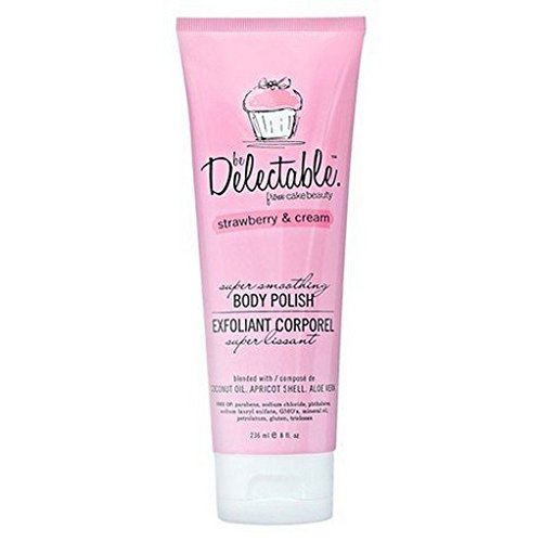 Delectable by Cake Beauty Super Smoothing Body Polish, Strawberry & Cream For Sale