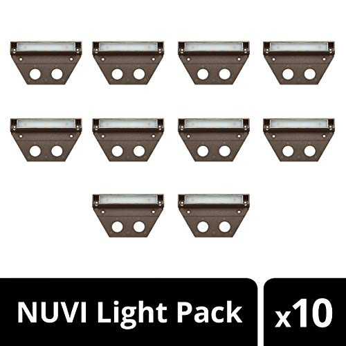 Hinkley Landscape Lighting NUVI Landscape Deck Light - Hardscape Light Highlights Important Hardscape Features and Surfaces and Increases Home Security - Medium Size, Bronze Finish (10 Pack)