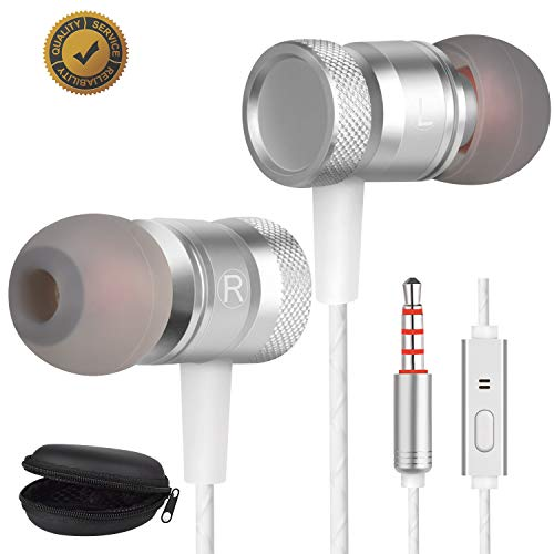 Earbuds Ear Buds Earphones in Ear Headphones Ear Buds for Music Wired Headphones Earbuds Noise Cancelling Compatible MP3 Players, Samsung,Android Smart Phone Stereo Heave Bass Earbuds with Microphone