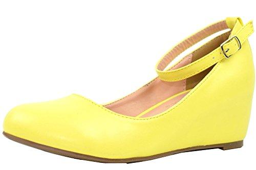 Yellow Platform Shoes - 6
