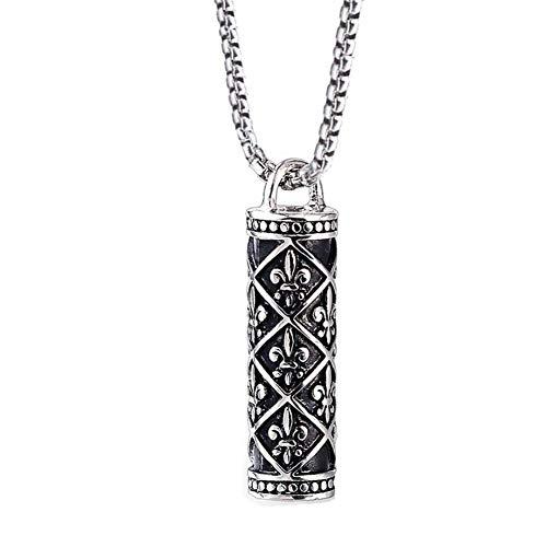 (HoBST Stainless Steel Fleur De Lis Necklaces Women Pendant Necklace Including Chain )