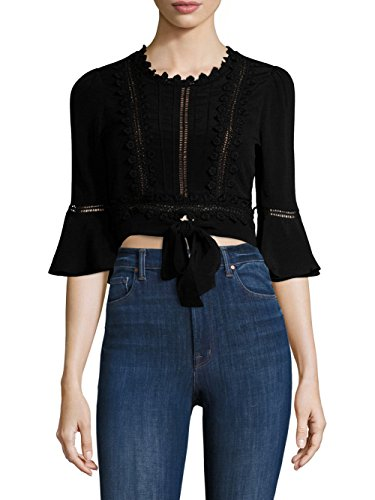 For Love & Lemons - Willow Crop Top - Black - S by For Love & Lemons (Image #3)