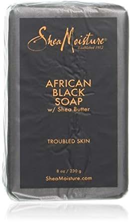 Jabón negro africano con manteca de karité, 8 oz (paquete de 2)