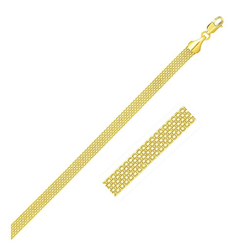 (Nezih Corp 4.5mm 14K Yellow Gold Bismark Bracelet )