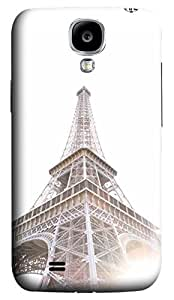 Brian114 Samsung Galaxy S4 Case, S4 Case - Customized 3D Designs Snap-on Case for Samsung Galaxy S4 I9500 Eiffel Tower In Morning Light Best Protective Back Case for Samsung Galaxy S4 I9500