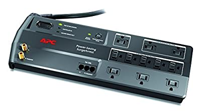 APC 3020J 11-Outlet Performance SurgeArrest Surge Protector with Phone and Coax Protection by APC