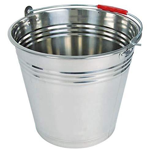 Edelstahleimer 12 Liter Eimer Pflanzeimer Dekoeimer Wassereimer