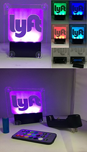Acryled designs LYFT NEW Remote Control LYFT LOGO.Car window LED sign no cord - multicolor light,rechargeable batteries.(LOGO Lyft) by Acryled designs (Image #4)