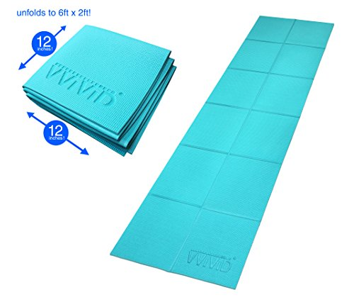 VViViD Foldable 6mm Thick PVC Padded Square Tile 6ft x 2ft Car Repair Work ()