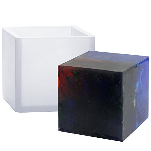 Funshowcase Cube Paperweight Silicone Mold for Polymer Clay Crafting, Soap Making, Resin Epoxy, Jewelry Making, 2