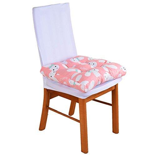 DealMuxポリエステルウサギパターン旅行バック保護椅子背もたれソフトパッドクッション45 cm X 45 cmピンク   B072SL259W