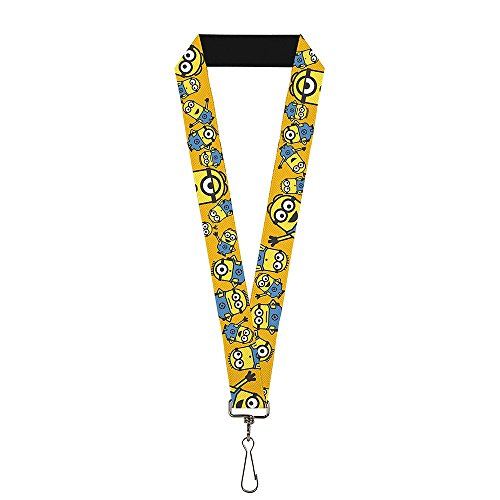 Despicable Me Minions Lanyard | Swivel Hook Attachment - Made in the USA (Minion & (The Office Halloween Joker Episode)