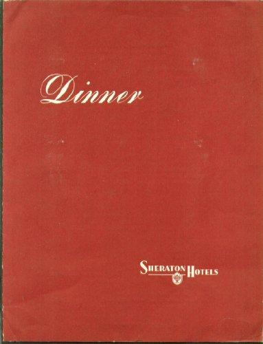 Sheraton Hotel Dinner Menu 4/15 1953 (Sheraton Dinner)